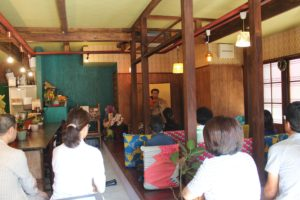 能楽師、大倉流小鼓方(重要無形文化財総合保持者)、久田 舜一郎(ひさだ しゅんいちろう)師匠に小鼓を打っていただきました。